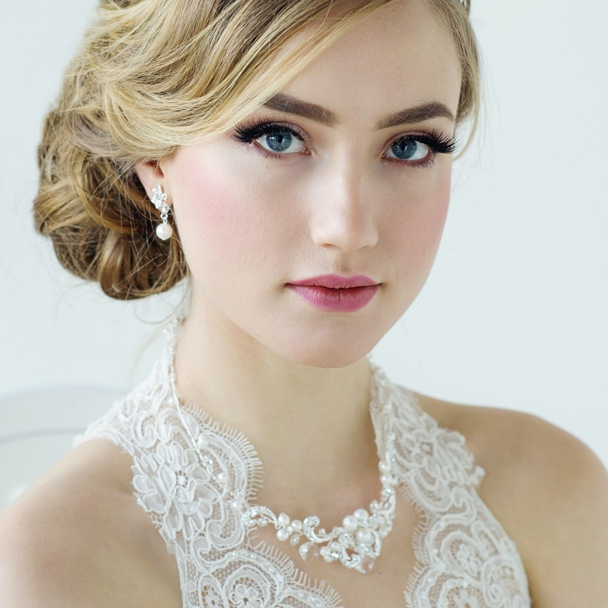 Elizabeth Pearl Bridal Necklace Set Pearl Wedding Necklace